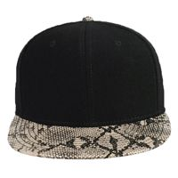 OTTO Wool Blend Twill w/ Faux Leather Round Flat Visor