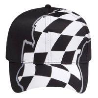 OTTO Racing Flag Pattern Cotton Twill Pro Style Cap Thumbnail