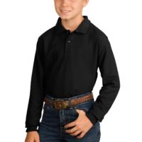 Affiliate - Youth Long Sleeve Silk Touch™ Polo Thumbnail